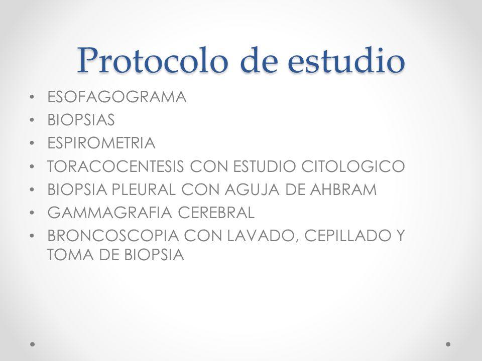 Protocolo de estudio ESOFAGOGRAMA BIOPSIAS ESPIROMETRIA