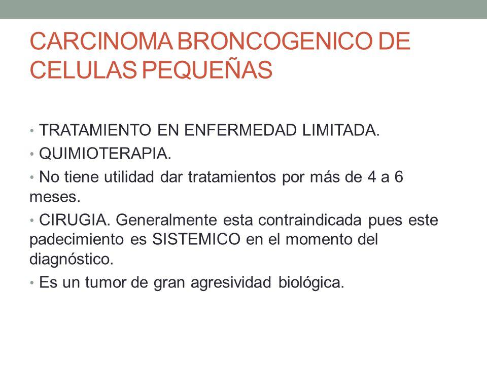CARCINOMA BRONCOGENICO DE CELULAS PEQUEÑAS