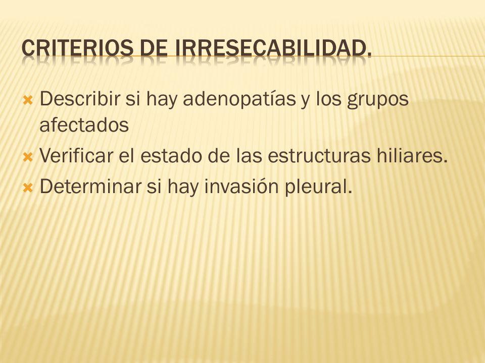 Criterios de irresecabilidad.