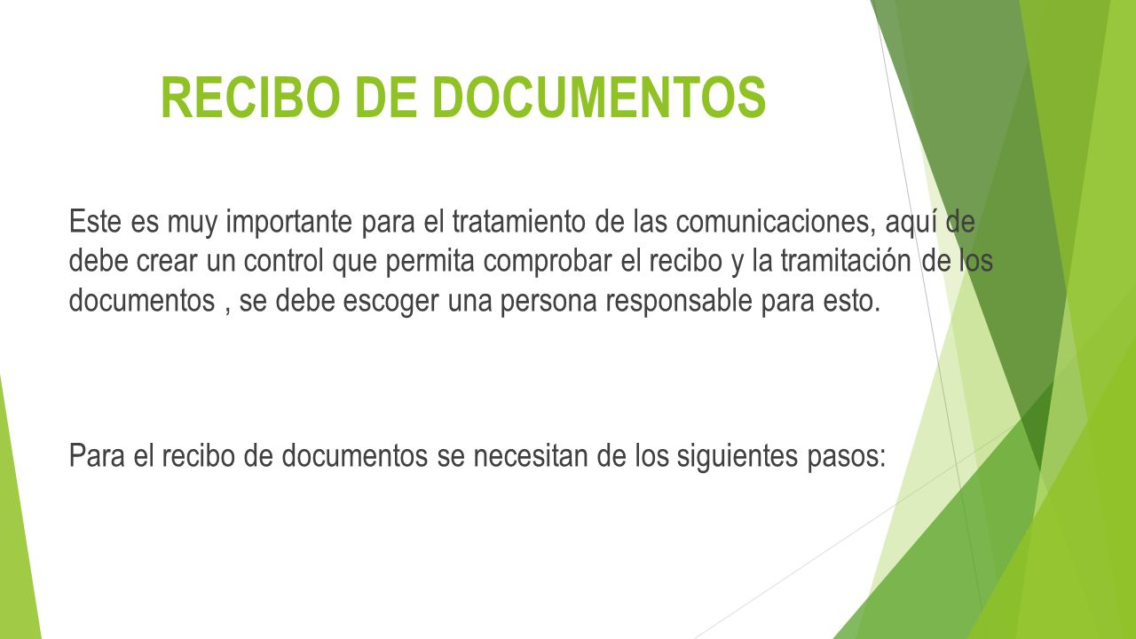RECIBO DE DOCUMENTOS