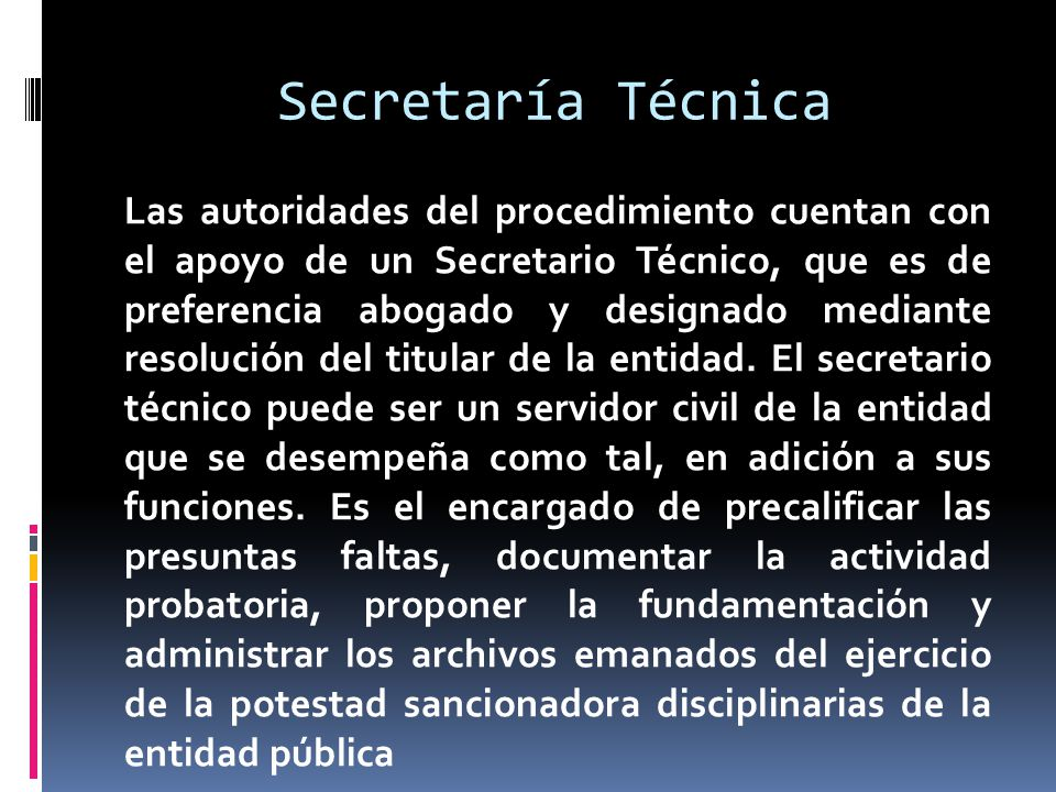 Secretaría Técnica