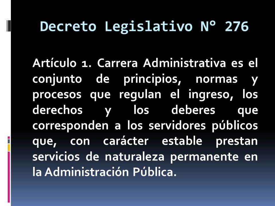 Decreto Legislativo N° 276
