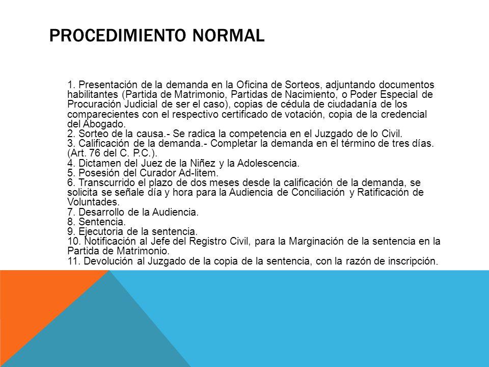 PROCEDIMIENTO NORMAL