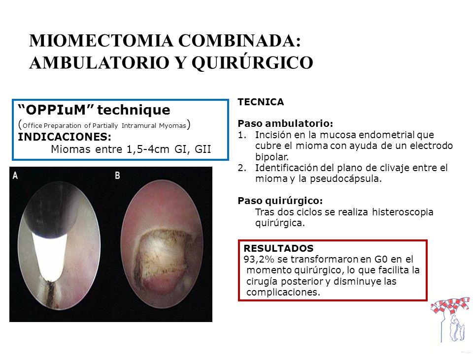 MIOMECTOMIA COMBINADA: AMBULATORIO Y QUIRÚRGICO