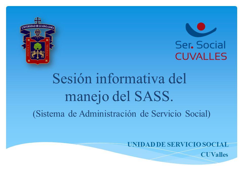 Sesión informativa del manejo del SASS.