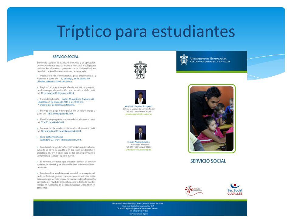 Tríptico para estudiantes