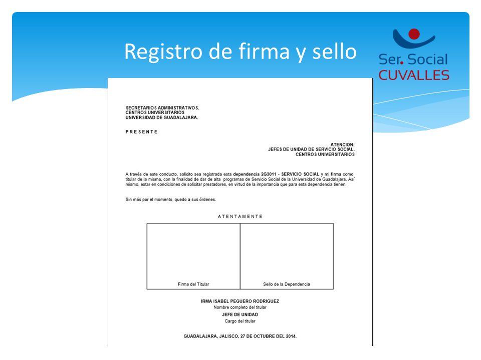 Registro de firma y sello