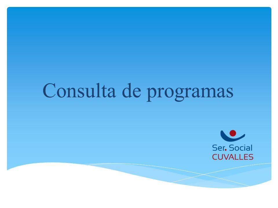 Consulta de programas