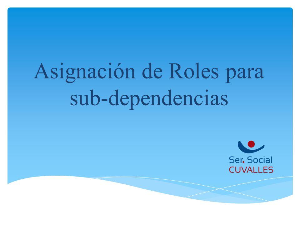 Asignación de Roles para sub-dependencias
