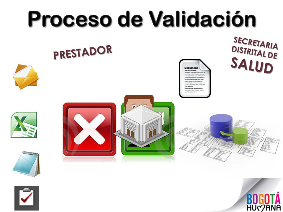 Proceso de Validación SECRETARIA DISTRITAL DE SALUD PRESTADOR