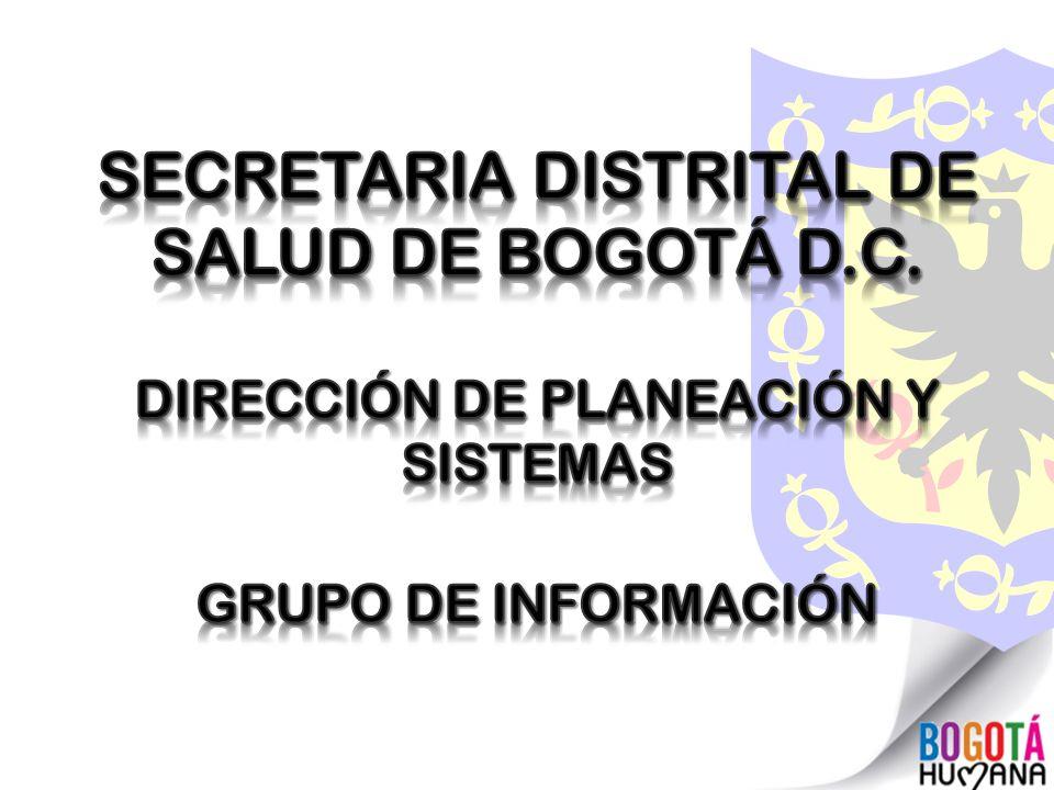 SECRETARIA DISTRITAL DE SALUD DE BOGOTÁ D.C.