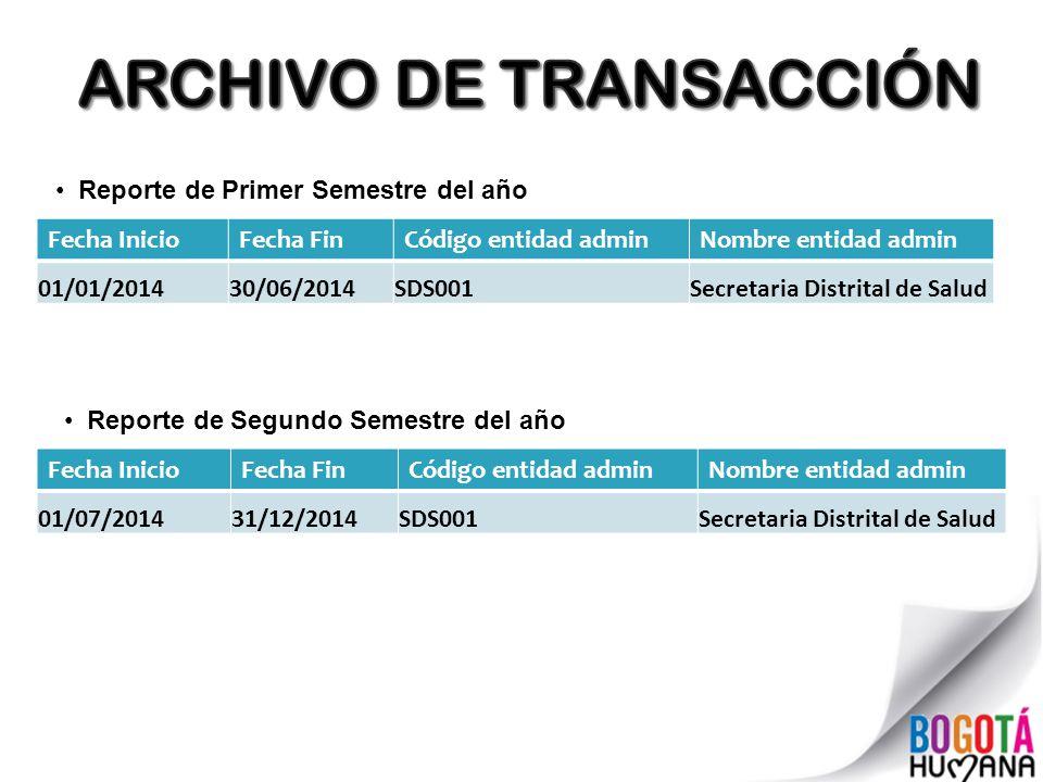 ARCHIVO DE TRANSACCIÓN