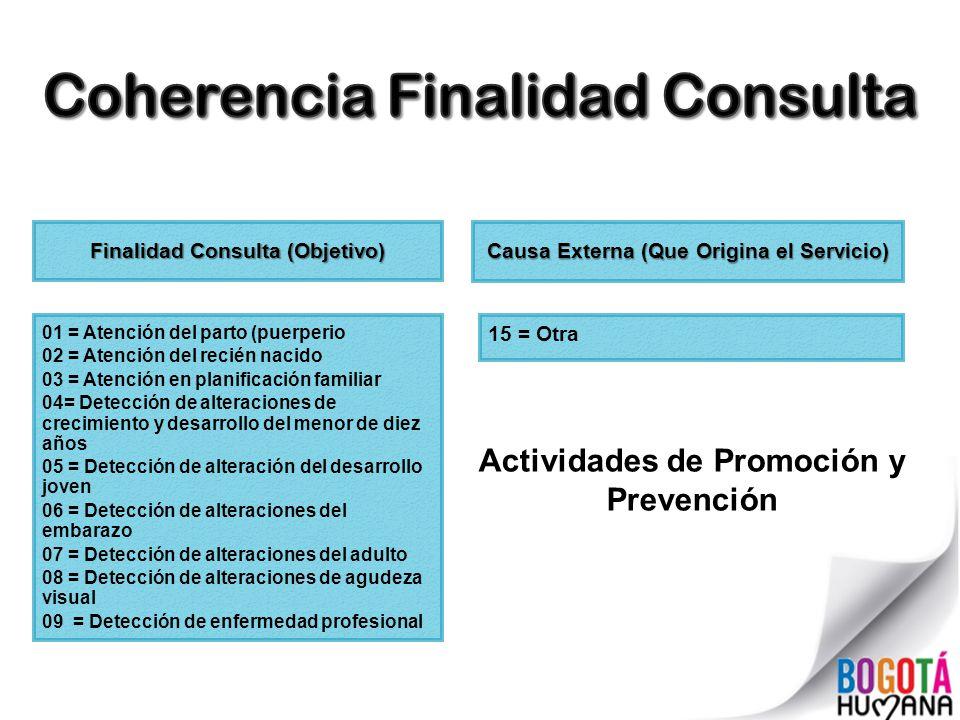Coherencia Finalidad Consulta