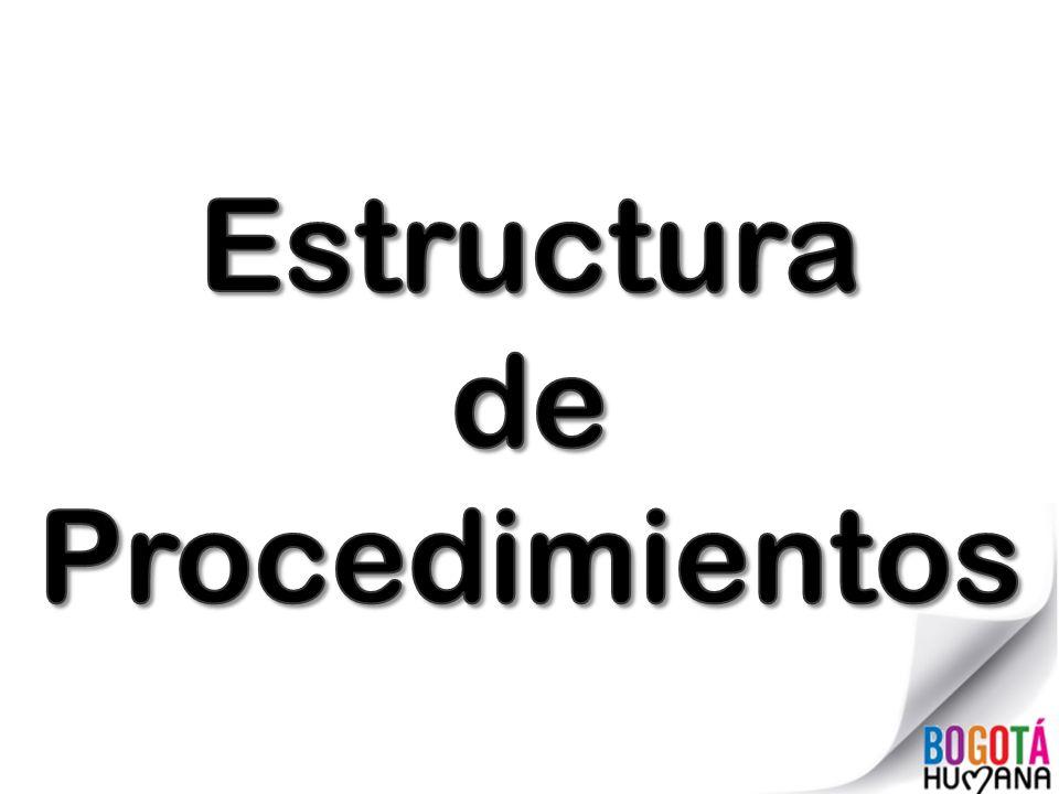 Estructura de Procedimientos