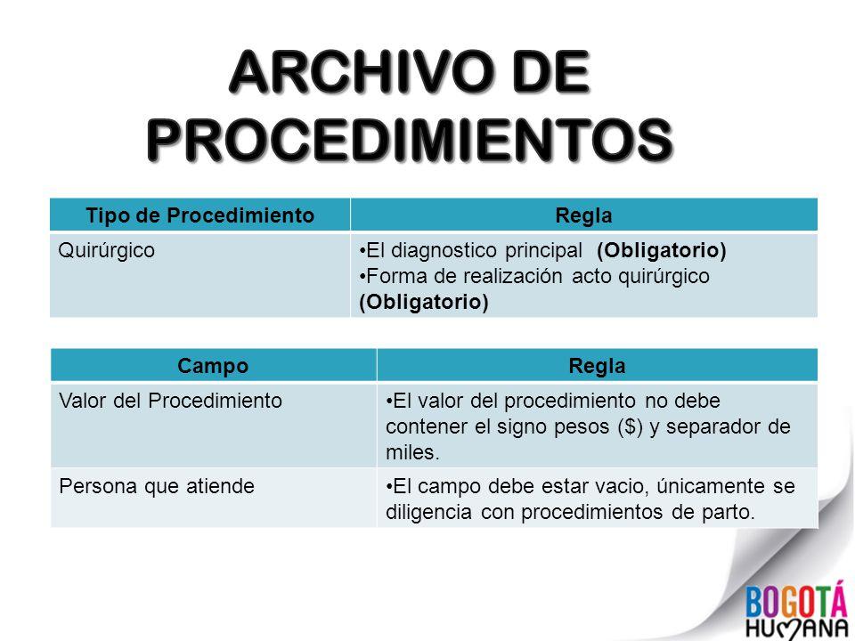 ARCHIVO DE PROCEDIMIENTOS