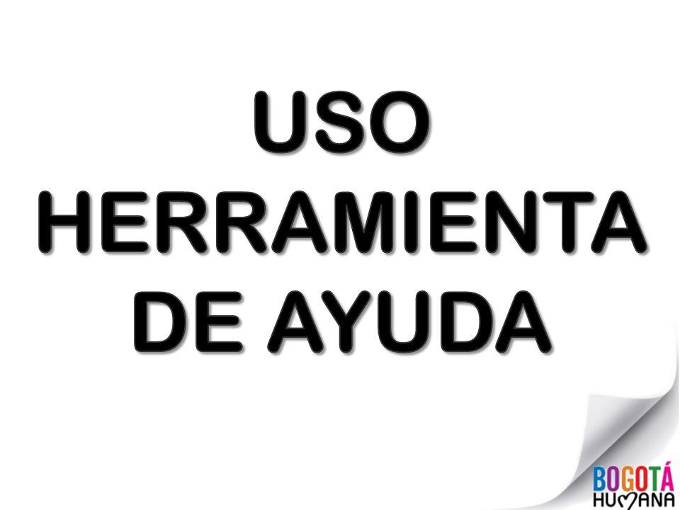USO HERRAMIENTA DE AYUDA