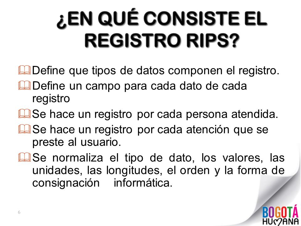 ¿EN QUÉ CONSISTE EL REGISTRO RIPS