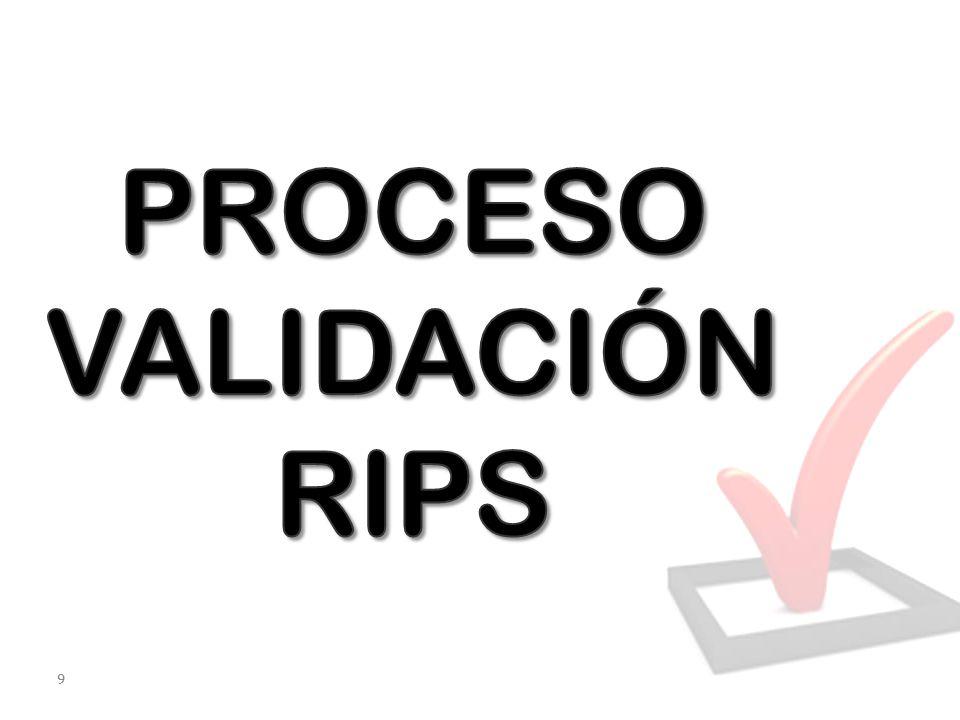 PROCESO VALIDACIÓN RIPS