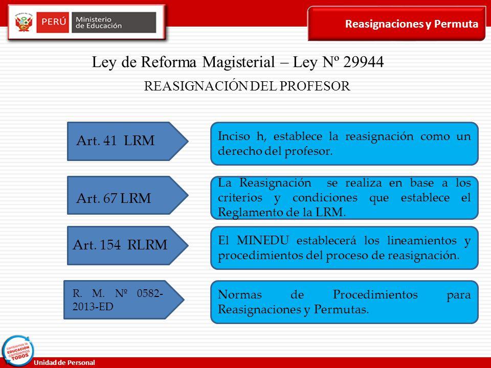Ley de Reforma Magisterial – Ley Nº 29944