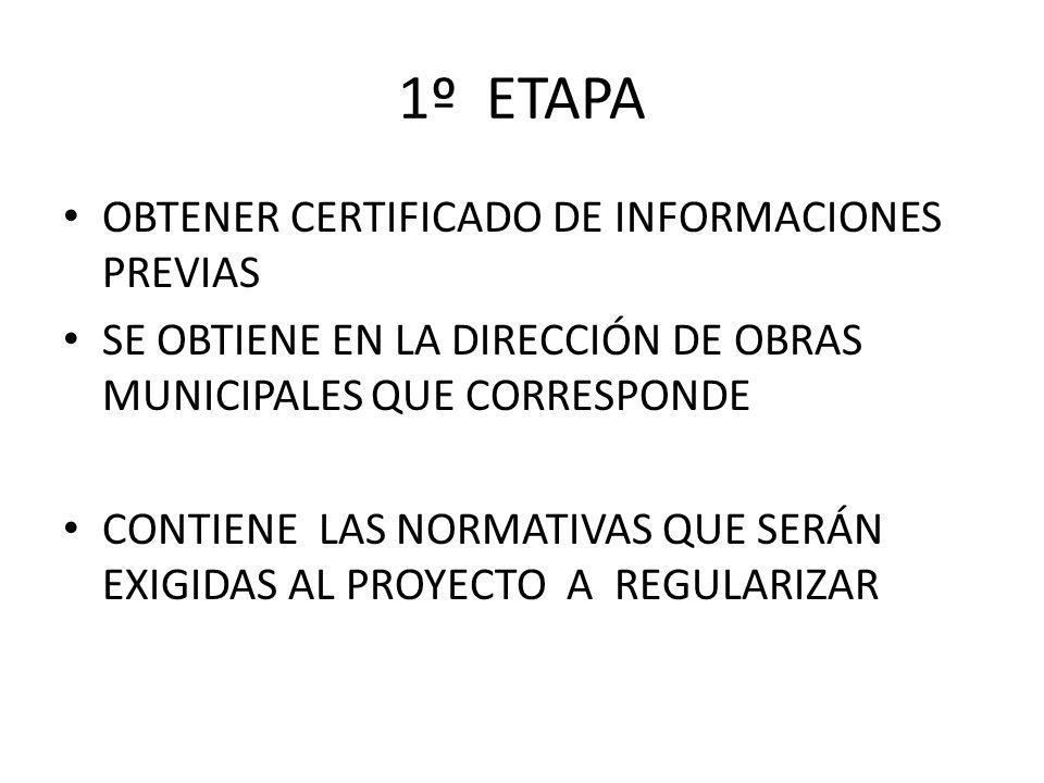 1º ETAPA OBTENER CERTIFICADO DE INFORMACIONES PREVIAS