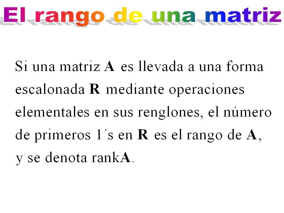 El rango de una matriz