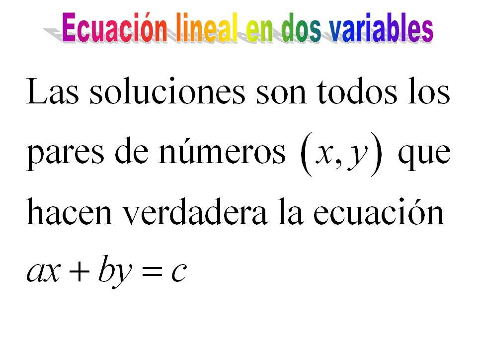 Ecuación lineal en dos variables