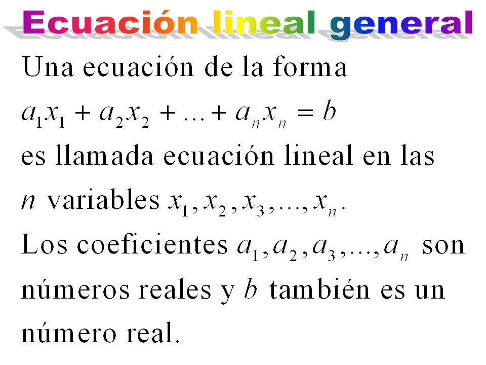 Ecuación lineal general