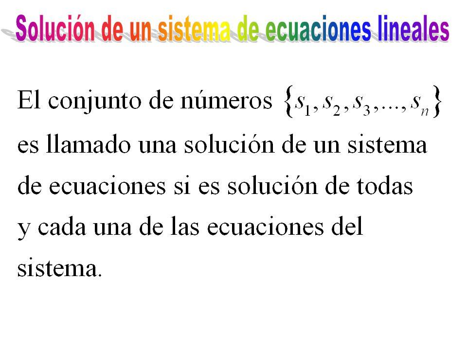 Solución de un sistema de ecuaciones lineales