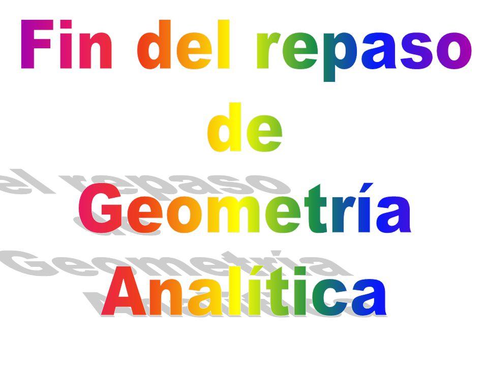 Fin del repaso de Geometría Analítica