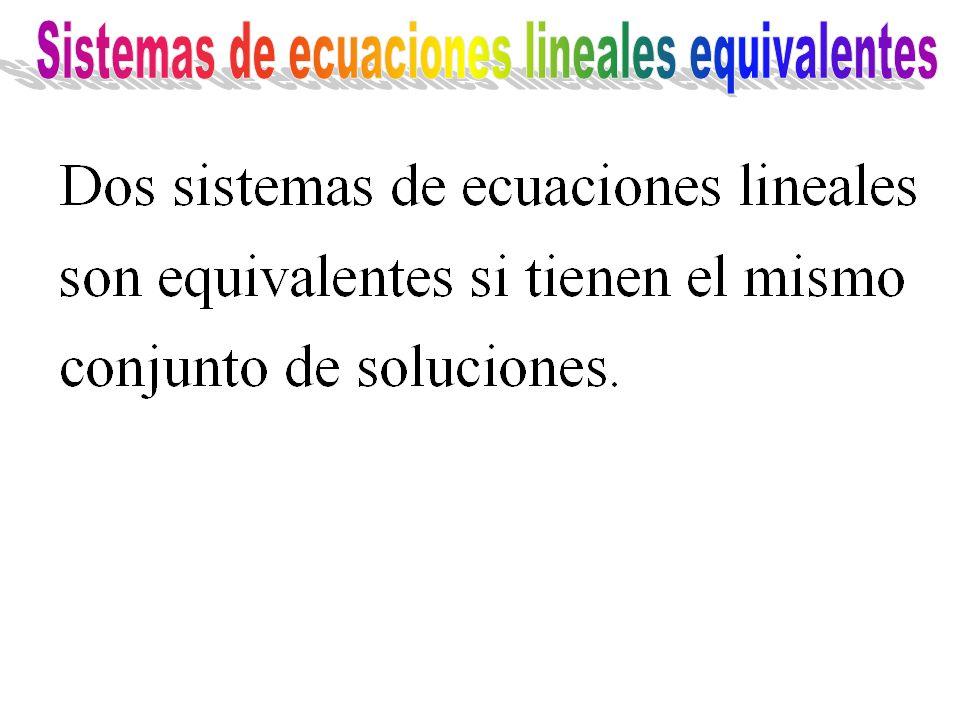 Sistemas de ecuaciones lineales equivalentes