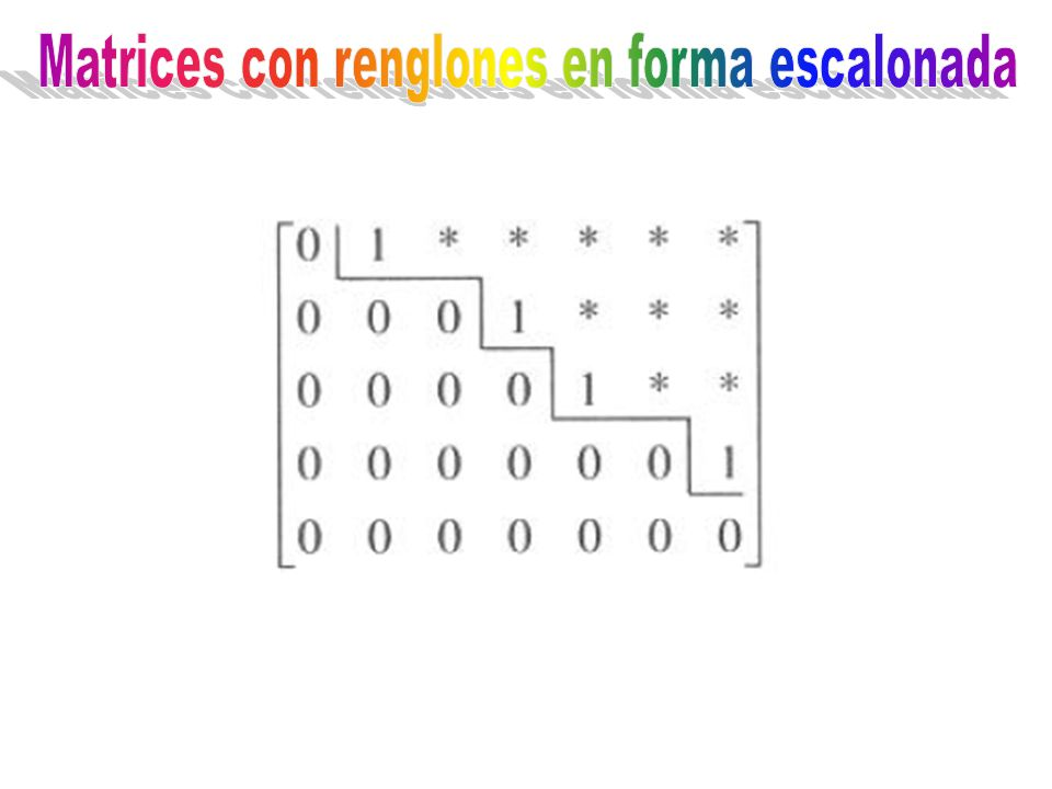 Matrices con renglones en forma escalonada