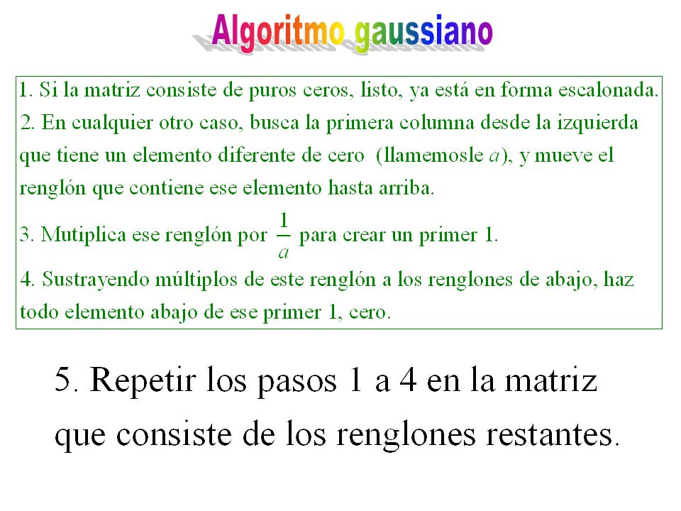 Algoritmo gaussiano