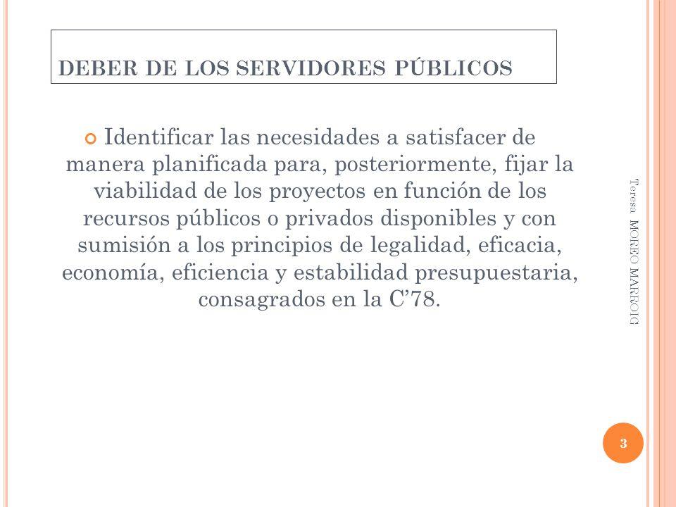 DEBER DE LOS SERVIDORES PÚBLICOS