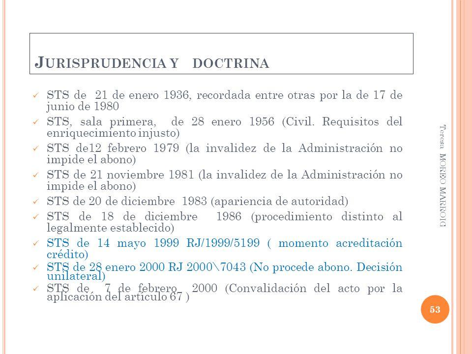 Jurisprudencia y doctrina