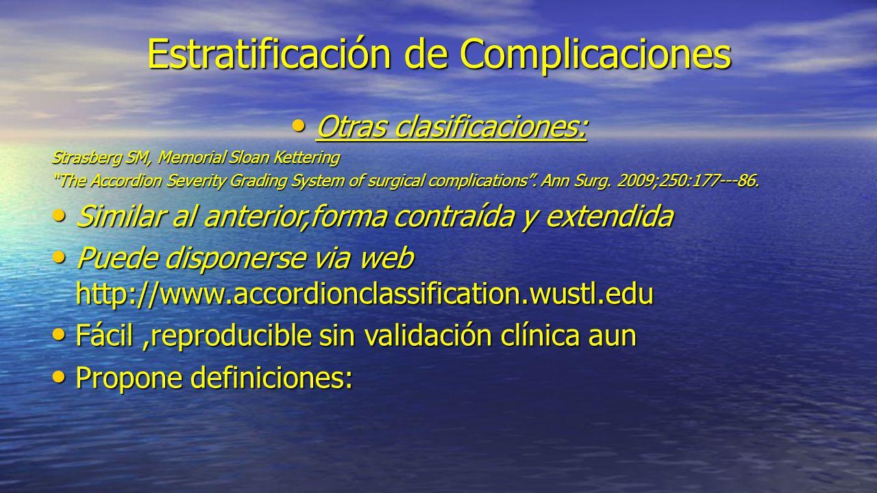 Estratificación de Complicaciones