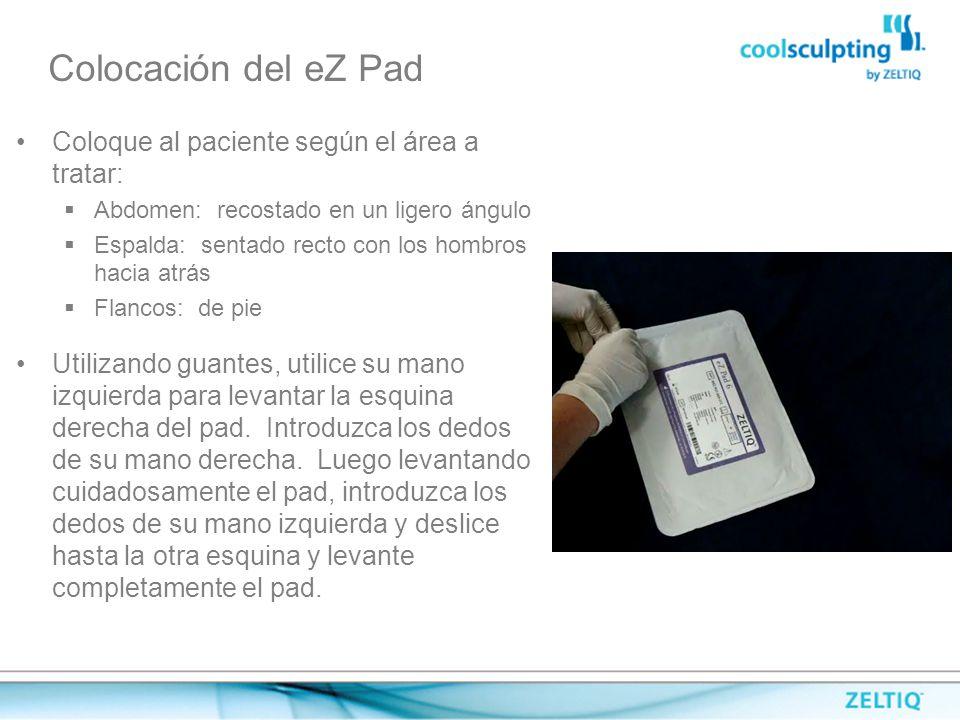 Colocación del eZ Pad Coloque al paciente según el área a tratar: