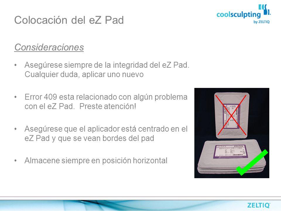 Colocación del eZ Pad Consideraciones
