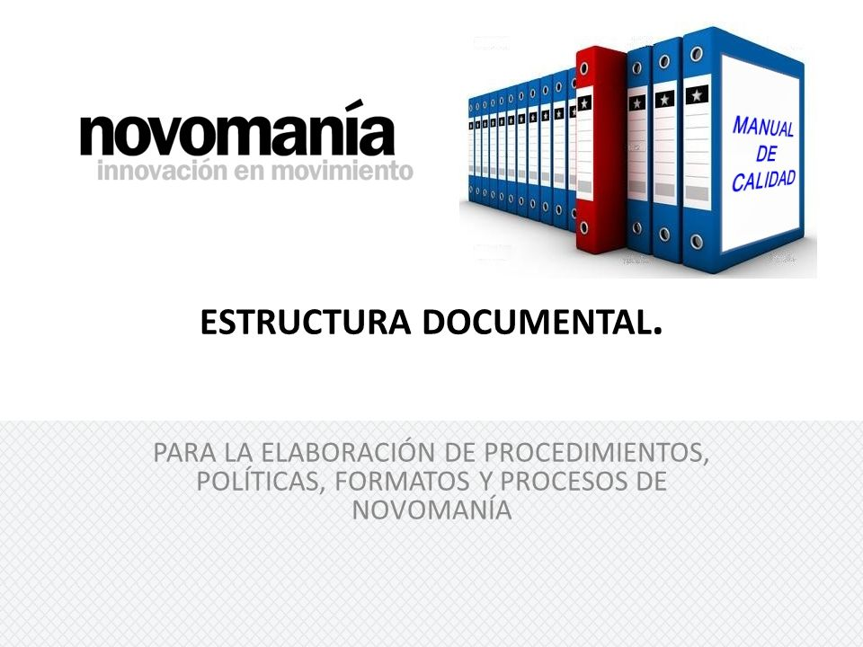 ESTRUCTURA DOCUMENTAL.
