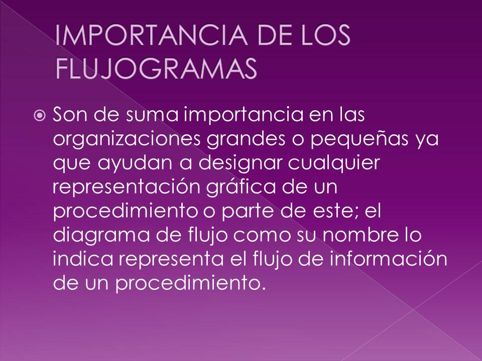IMPORTANCIA DE LOS FLUJOGRAMAS