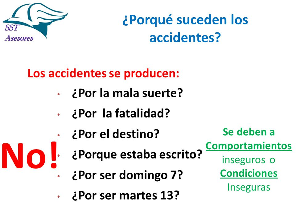 ¿Porqué suceden los accidentes