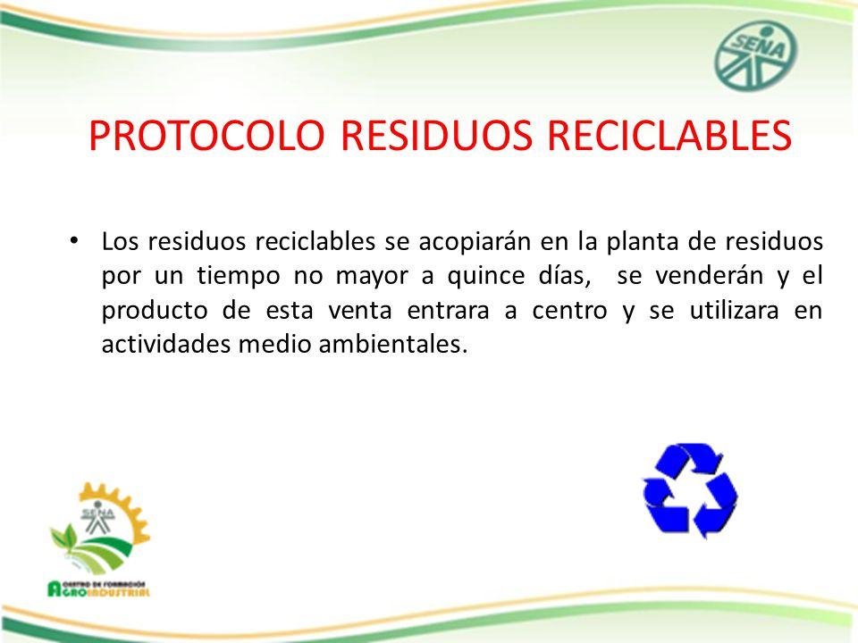 PROTOCOLO RESIDUOS RECICLABLES