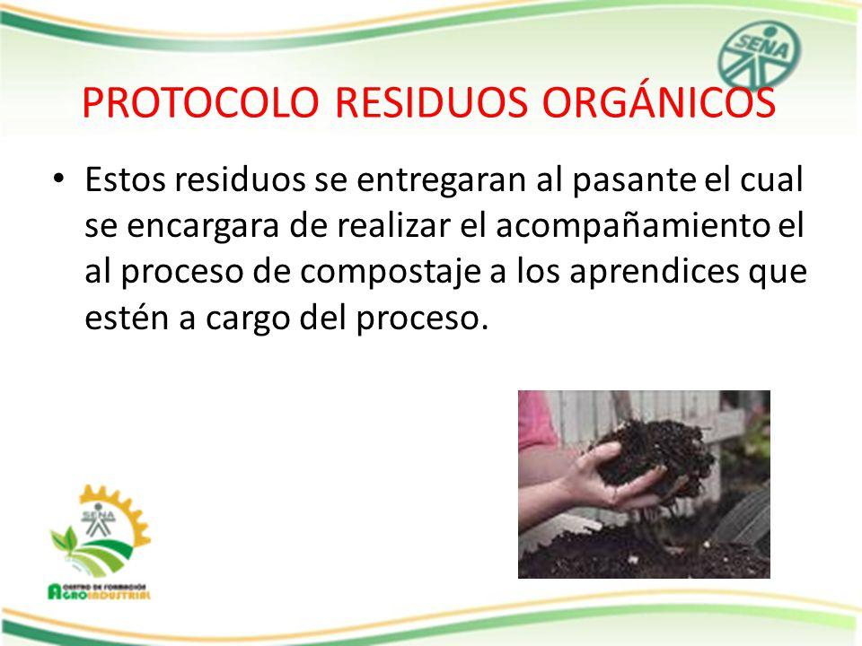 PROTOCOLO RESIDUOS ORGÁNICOS