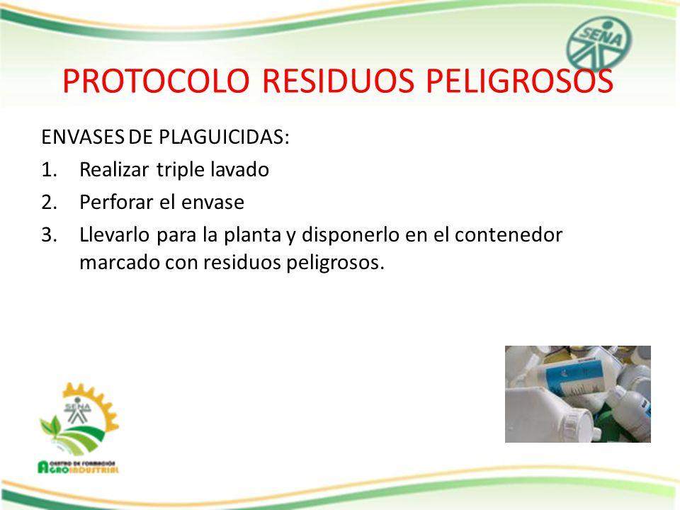 PROTOCOLO RESIDUOS PELIGROSOS