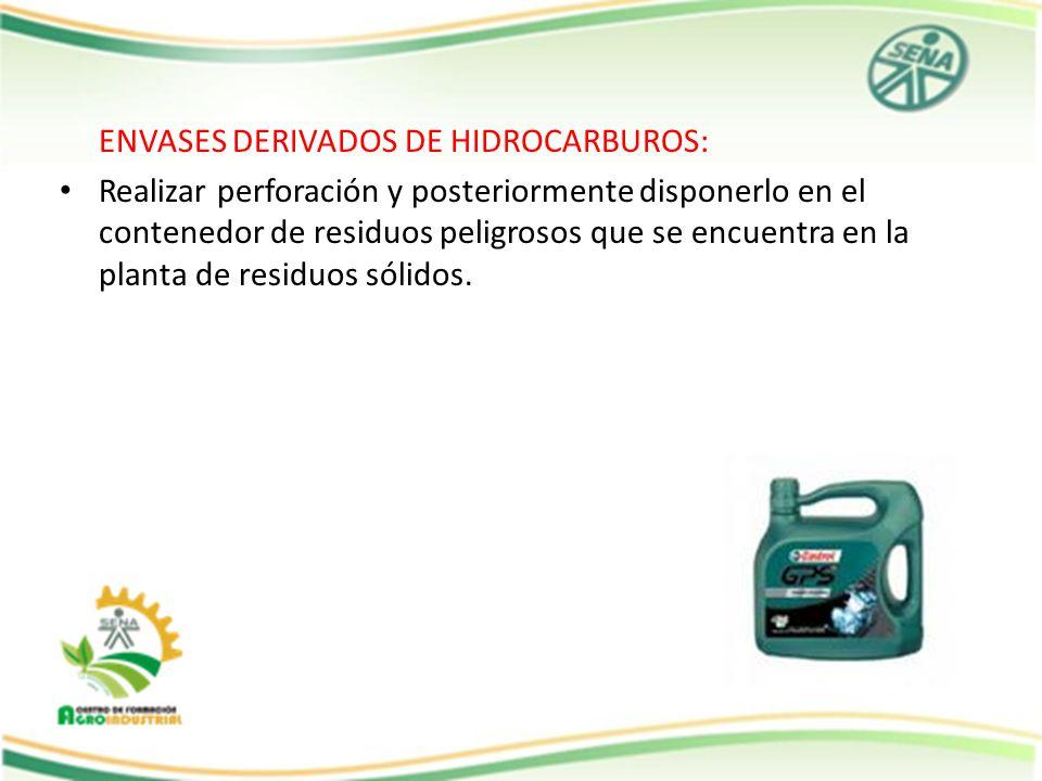 ENVASES DERIVADOS DE HIDROCARBUROS: