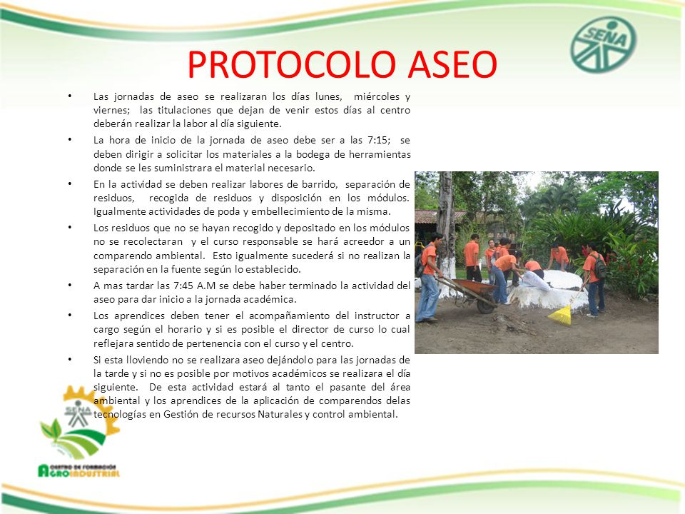 PROTOCOLO ASEO