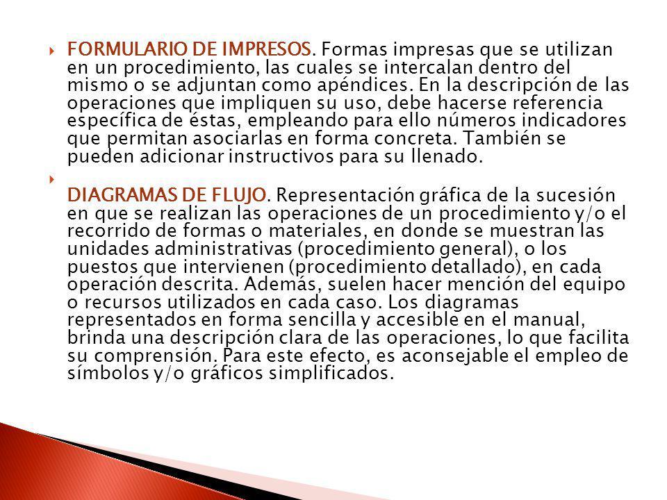 FORMULARIO DE IMPRESOS