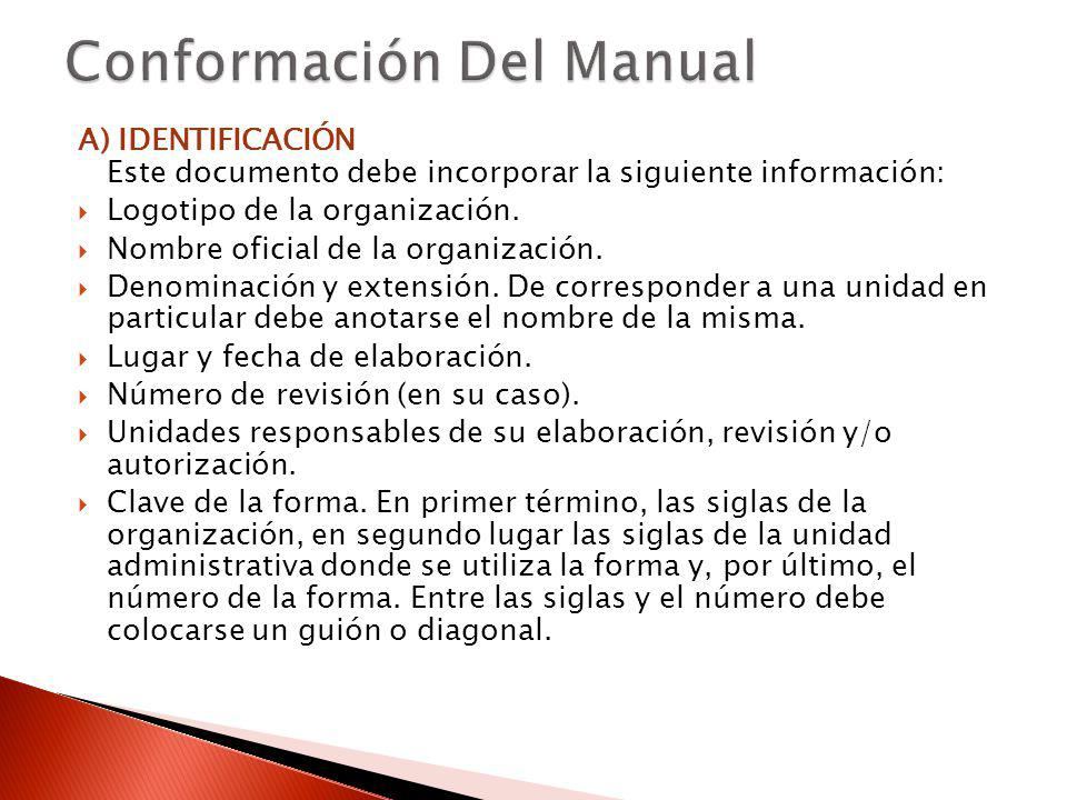Conformación Del Manual
