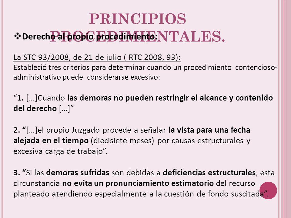 PRINCIPIOS PROCEDIMIENTALES.