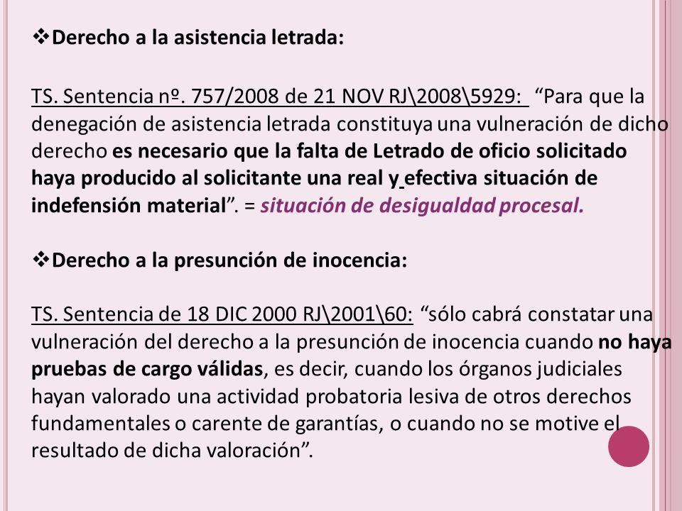 Derecho a la asistencia letrada: