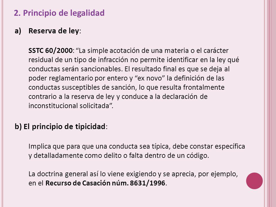 2. Principio de legalidad